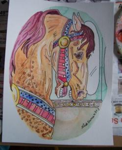 Carousel Horse Work in Progress 6